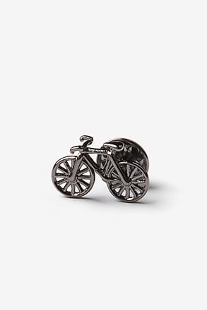 Bicycle Gunmetal Lapel Pin