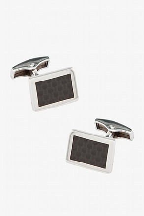 Framed Illusions Gunmetal Cufflinks
