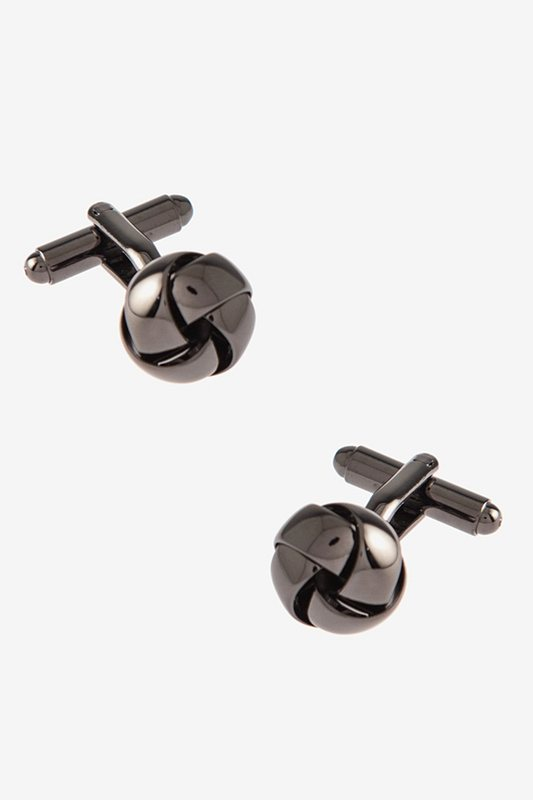 Intricate Know Gunmetal Cufflinks Photo (0)