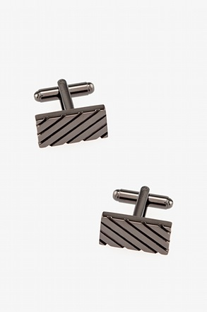 Rectangle Grooves Cufflinks