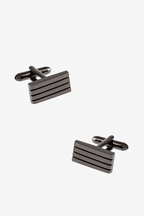 Simple Striped Rectangle Cufflinks