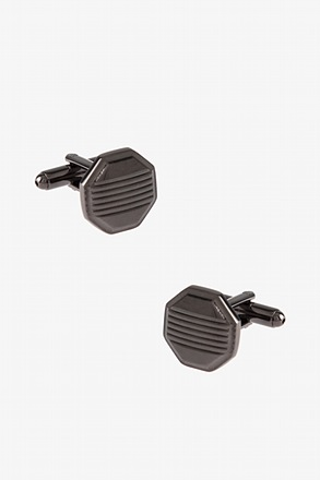 Solid Striped Octagon Cufflinks