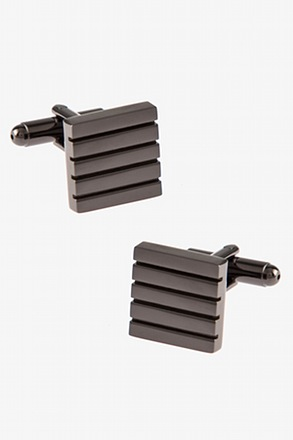 Solid Striped Square Cufflinks