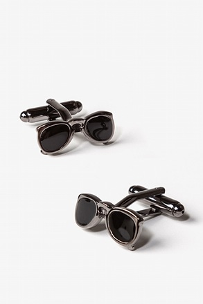 Sunglasses Shades Gunmetal Cufflinks