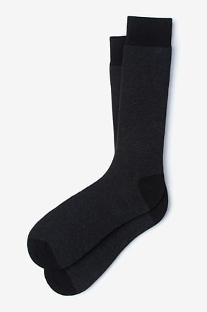 Solid Choice Heather Black Sock
