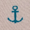 Heather Brown Carded Cotton Stay Anchored Sock