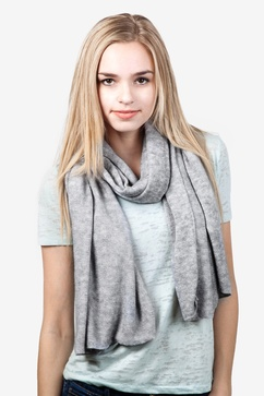 Heathered Solid Heather Gray Knit Scarf