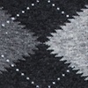 Heather Gray Carded Cotton Argyle Assassin