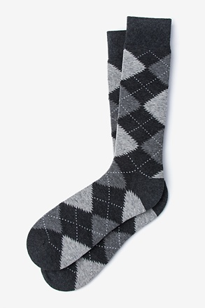 Argyle Assassin Heather Gray Sock