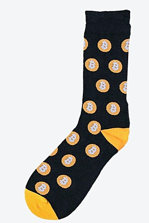 Bitcoin Heather Gray Sock