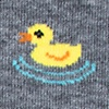Heather Gray Carded Cotton Feelin' Ducky Sock