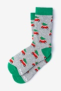 Heather Gray Carded Cotton I Pine for You Women's Sock