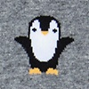 Heather Gray Carded Cotton Penguins are Chill Sock