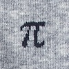 Heather Gray Carded Cotton Pi Symbols Sock