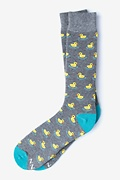 Heather Gray Carded Cotton Rubber Ducky Sock