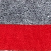 Heather Gray Carded Cotton Rugby Stripe