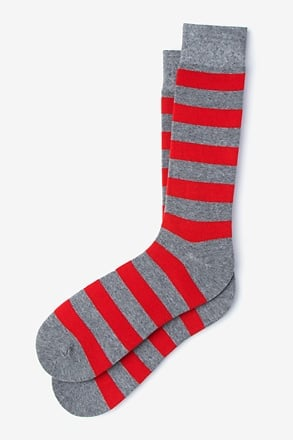 Rugby Stripe Heather Gray Sock