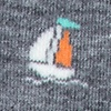 Heather Gray Carded Cotton Sail Boat Sock