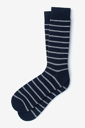 Virtuoso Stripe Heather Gray Sock