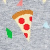 Heather Light Gray Carded Cotton Pizza Party