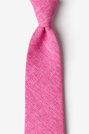 _Denver Hot Pink Extra Long Tie_
