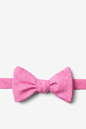 _Denver Hot Pink Self-Tie Bow Tie_