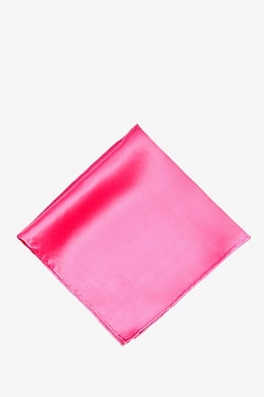 _Hot Pink Pocket Square_