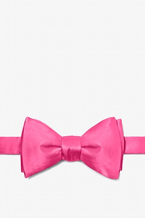 Hot Pink Self-Tie Bow Tie
