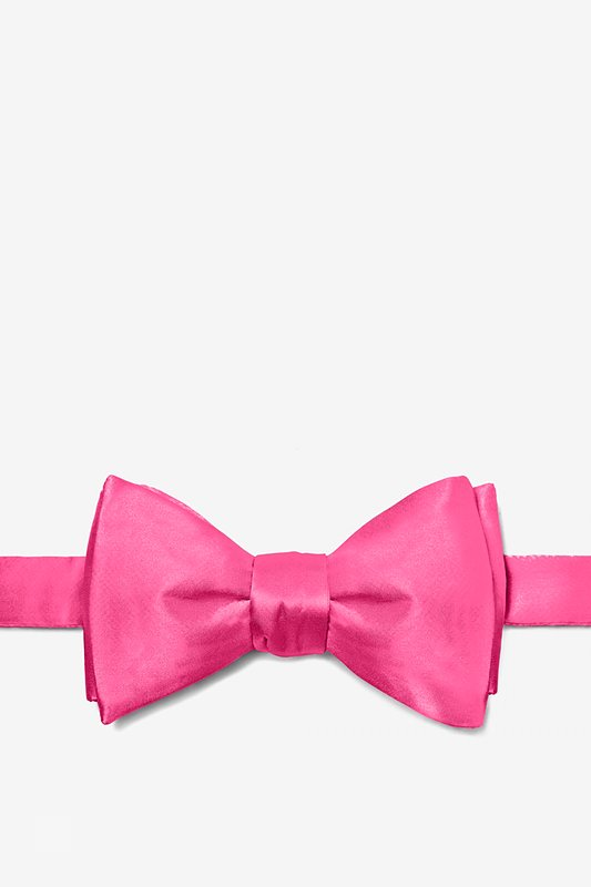 Hot Pink Self-Tie Bow Tie Photo (0)