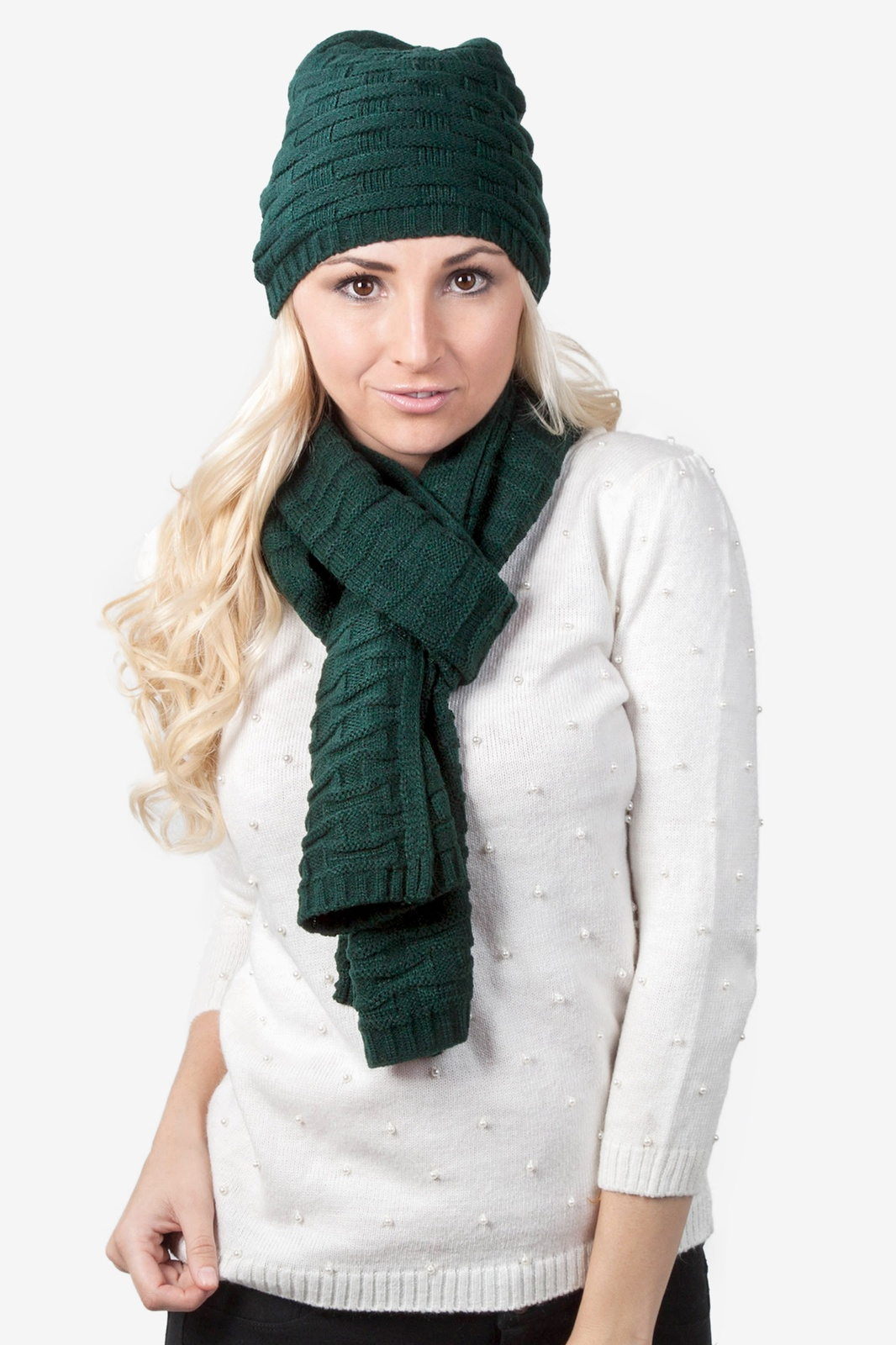 Basketweave Scarf And Hat Set by Scarves.com bb6bca82b2c