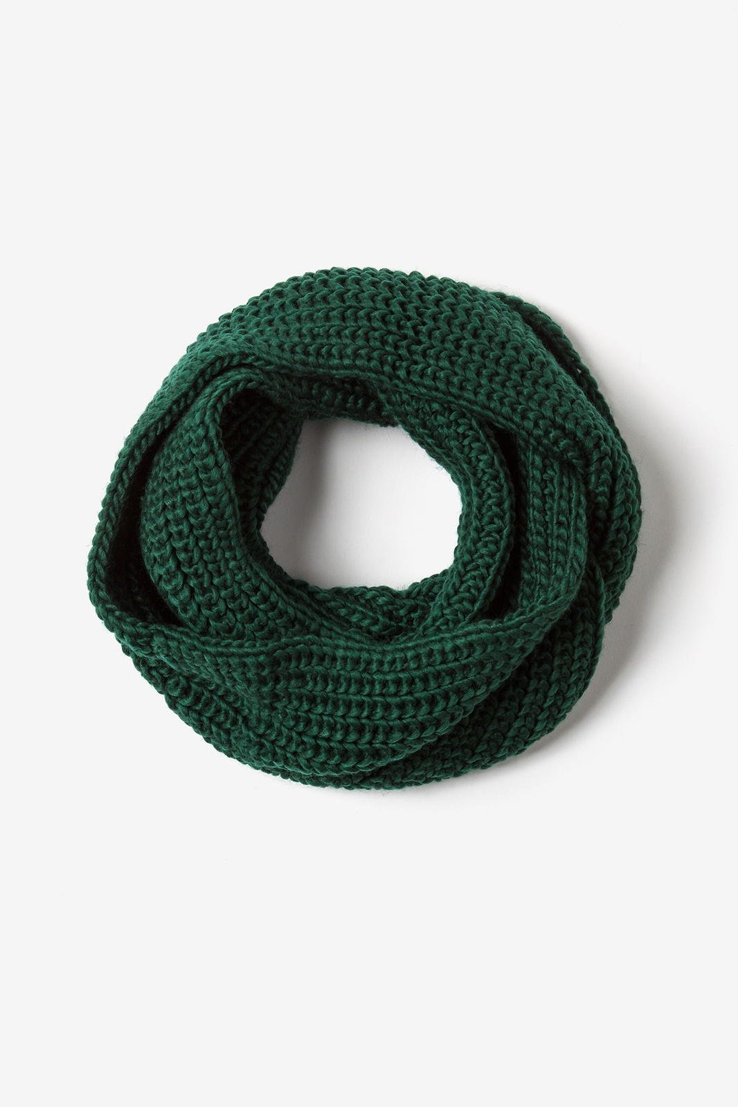 5573121a9b583 Hunter Green Acrylic Concord Knit Infinity Scarf | Scarves.com