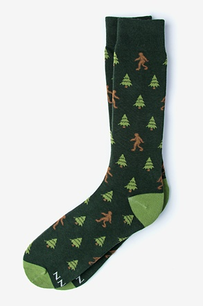 Sasquatch Hunter Green Sock