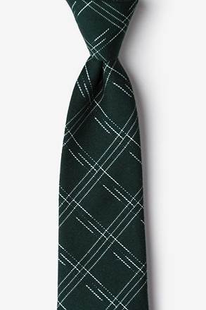 _Escondido Hunter Green Extra Long Tie_