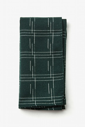 _Escondido Hunter Green Pocket Square_