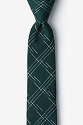 Hunter Green Cotton Escondido Skinny Tie