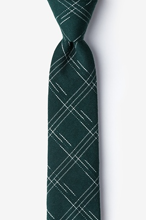 _Escondido Hunter Green Skinny Tie_