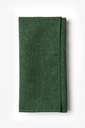 Galveston Hunter Green Pocket Square