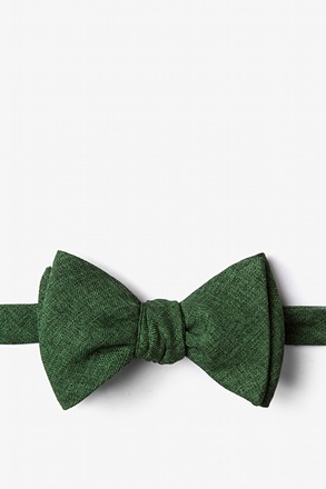 Galveston Hunter Green Self-Tie Bow Tie