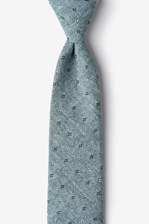 Hunter Green Churchill Skinny Tie