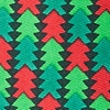 Hunter Green Microfiber Christmas Tree Abstract Extra Long Tie
