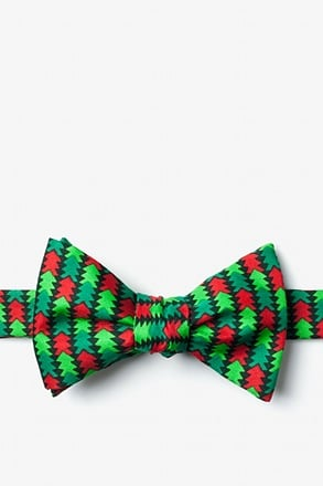 _Christmas Tree Abstract Self-Tie Bow Tie_