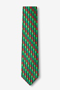 Christmas Tree Abstract Hunter Green Skinny Tie Photo (1)