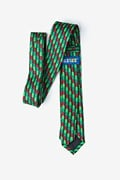 Christmas Tree Abstract Hunter Green Skinny Tie Photo (2)