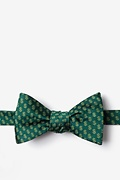Hunter Green Microfiber Dollar Signs Bow Tie
