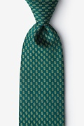 Hunter Green Microfiber Dollar Signs Extra Long Tie