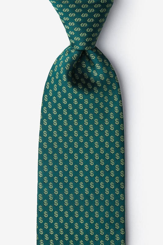 Dollar Signs Extra Long Tie Photo (0)
