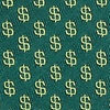 Hunter Green Microfiber Dollar Signs Skinny Tie