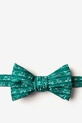 Hunter Green Microfiber Learning Cursive Butterfly Bow Tie
