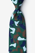Hunter Green Microfiber Street Camo Extra Long Tie