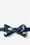Hunter Green Microfiber Street Camo Self-Tie Bow Tie